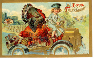 vintage-thanksgiving-postcard-turkey-in-a-car-flickr-photo-